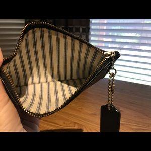 Coach Bags - Coach Black Smooth Leather Clutch/case